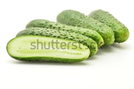 Taze salatalık yalıtılmış beyaz gıda Stok fotoğraf © monticelllo