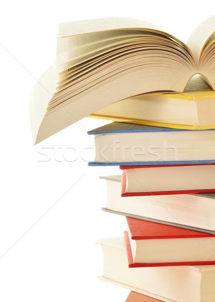Livres isolé blanche éducation science Photo stock © monticelllo