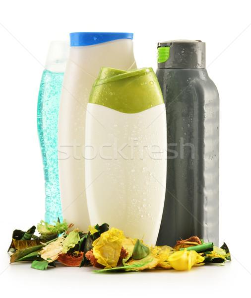Plastik şişeler vücut bakım güzellik ürünleri saç Stok fotoğraf © monticelllo