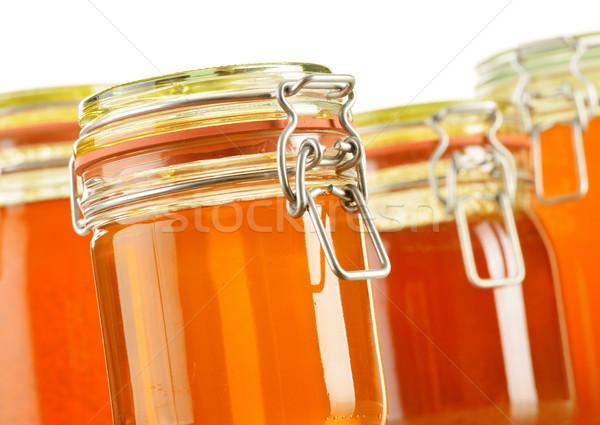 Jar honing geïsoleerd witte voedsel winkelen Stockfoto © monticelllo