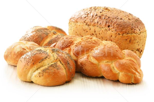 Ekmek yalıtılmış beyaz buğday karanlık Stok fotoğraf © monticelllo