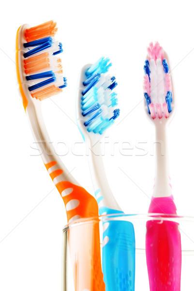 Yalıtılmış beyaz dişçi renk temizlik temizlemek Stok fotoğraf © monticelllo