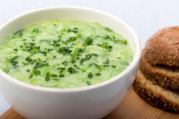 Prei soep vers bieslook chili Stockfoto © Moradoheath