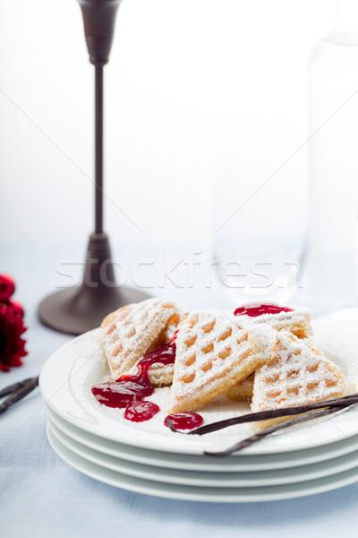 сахарная пудра сердце продовольствие десерта Сток-фото © Moradoheath