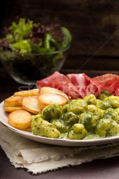 Bruxelles patate carne verdura cuoco Foto d'archivio © Moradoheath