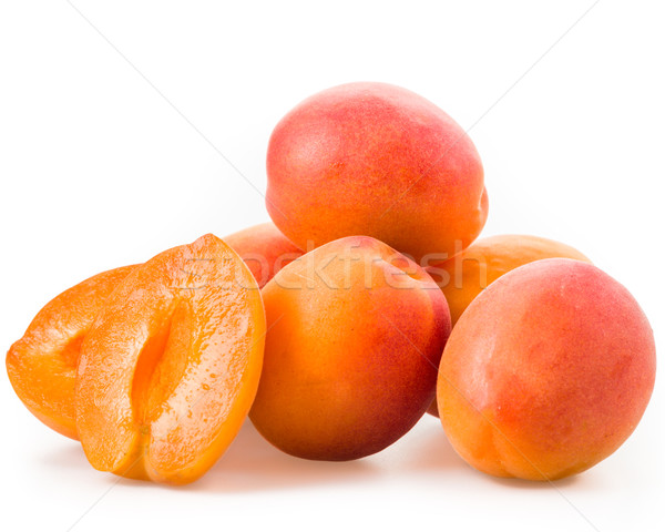 абрикос изолированный белый студию свежие здорового Сток-фото © Moradoheath