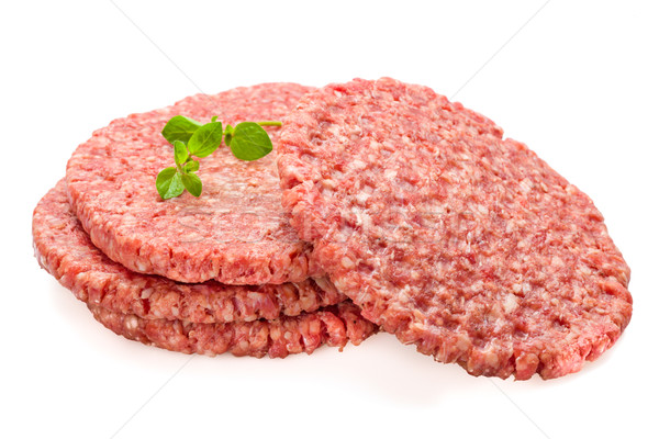 Stock photo: Fresh Burger Patties