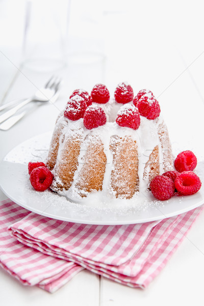 Stock photo: Fresh bundt cake with fruits