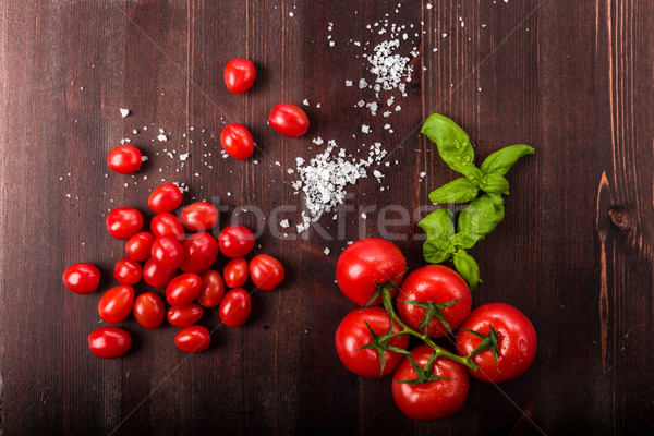 Tomatoes with salt Stock photo © Moradoheath