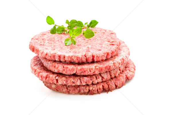 Fresh Burger Patties Stock photo © Moradoheath