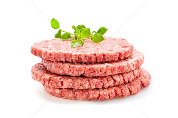 Stock photo: Fresh Burger Patties