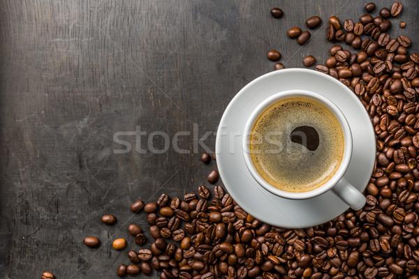 コーヒー豆 暗い 地下 ドリンク 朝食 カップ ストックフォト © Moradoheath