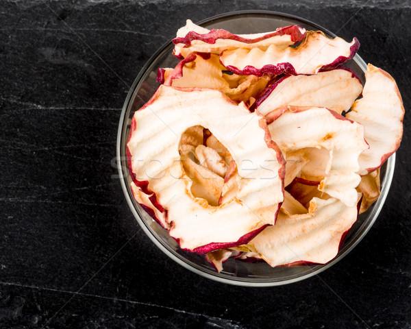 リンゴ チップ 新鮮な リンゴ 暗い 地下 ストックフォト © Moradoheath