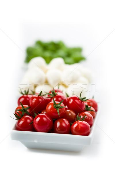 トマト バジル 新鮮な トマト ディナー ストックフォト © Moradoheath