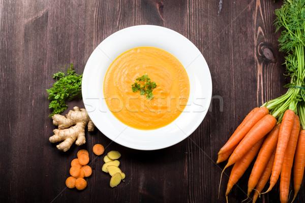 Carrot ginger soup Stock photo © Moradoheath