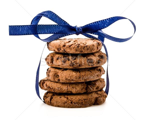 クッキー 孤立した 白 背景 新鮮な 甘い ストックフォト © Moradoheath