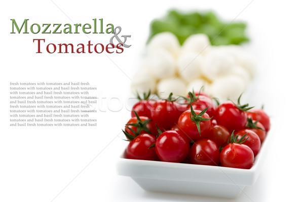 томатный моцарелла базилик свежие помидоров обеда Сток-фото © Moradoheath