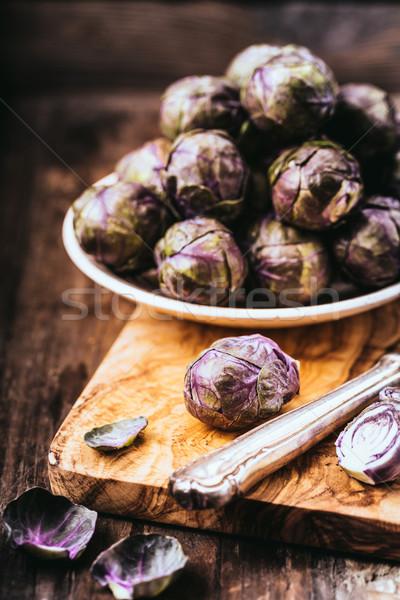 Stockfoto: Violet · vers · paars · Brussel · voedsel · groene