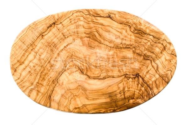 孤立した 木板 オリーブ 木材 白 背景 ストックフォト © Moradoheath