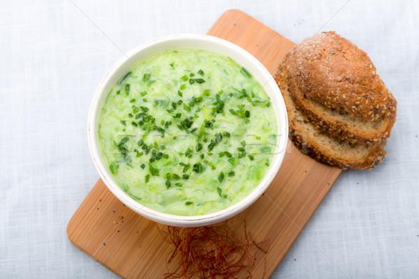 リーキ スープ 新鮮な チャイブ 唐辛子 ストックフォト © Moradoheath