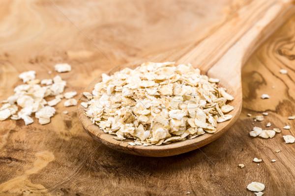 オートミール 自然 背景 キッチン 穀物 ストックフォト © Moradoheath