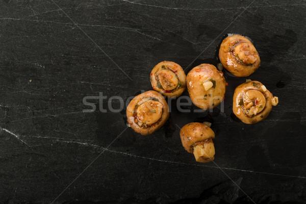 Antipasti cogumelos fresco ervas Óleo cozinhar Foto stock © Moradoheath