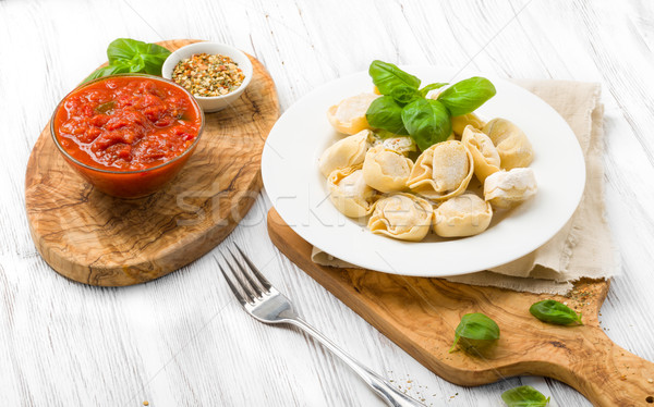 準備 トルテッリーニ キッチン 緑 黄色 ストックフォト © Moradoheath