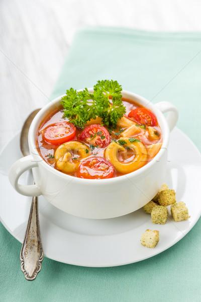 Tomatensuppe mit Nudeln Stock photo © Moradoheath