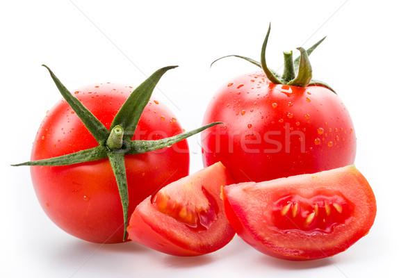 Fraîches tomates isolé blanche fond boire Photo stock © Moradoheath
