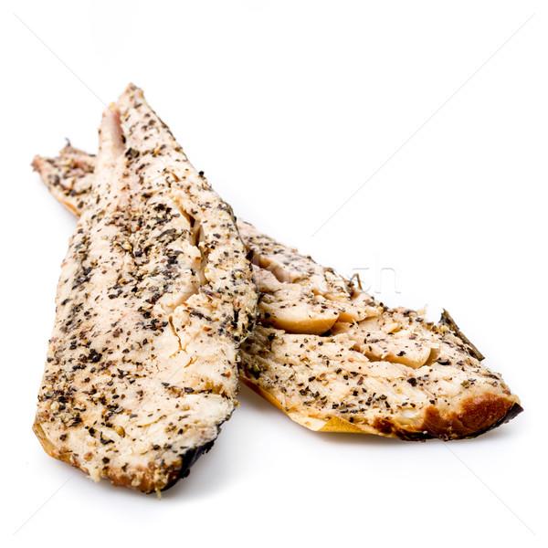 Füme uskumru taze gıda balık yeme Stok fotoğraf © Moradoheath