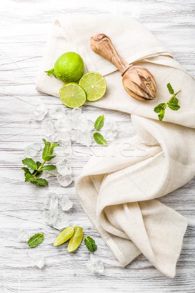 モヒート 材料 新鮮な ミント 氷 フルーツ ストックフォト © Moradoheath