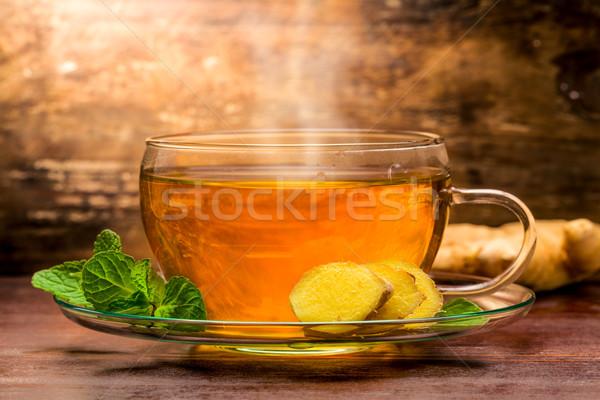 生姜 茶 ミント 緑 レモン ストックフォト © Moradoheath