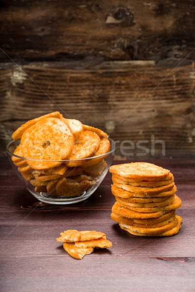 Bread chips flavored with paprika, Stock photo © Moradoheath