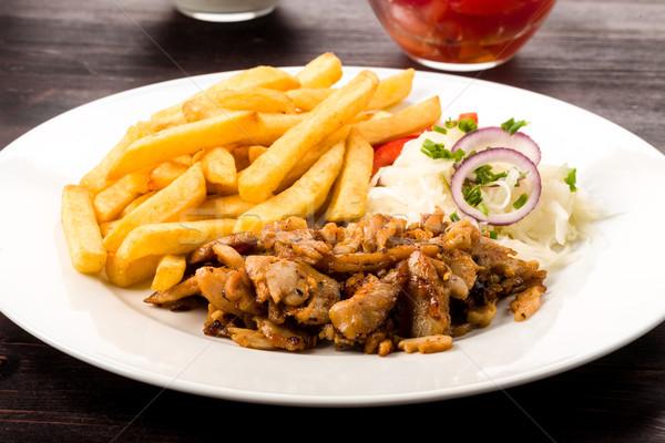 Quibe prato fresco fries Foto stock © Moradoheath