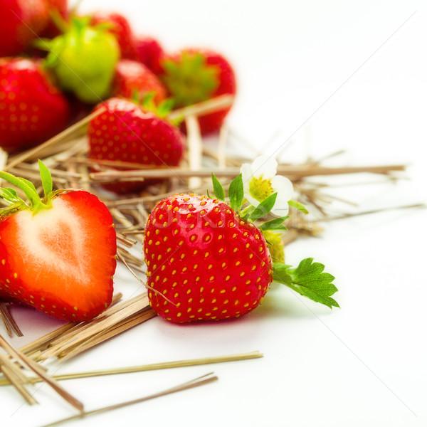 Stockfoto: Erdbeeren
