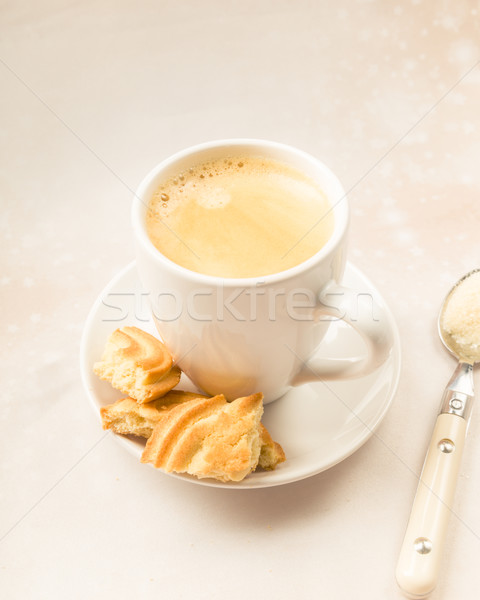 Crema coffee with biscuits Stock photo © Moradoheath