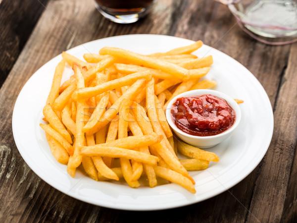 картофель фри свежие жареный кетчуп Сток-фото © Moradoheath