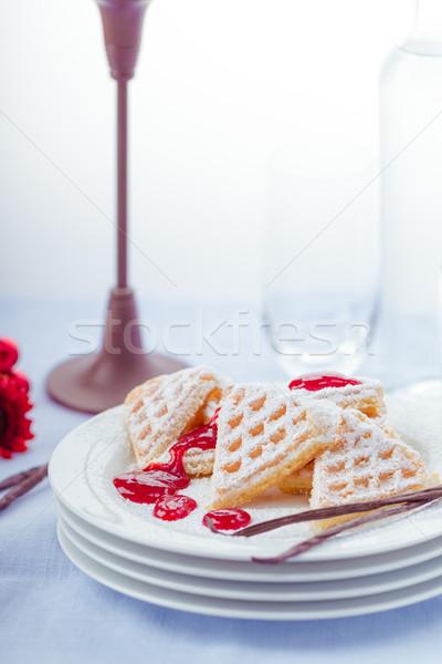 baked waffles Stock photo © Moradoheath