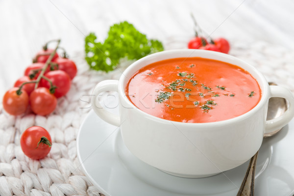 Tomatensuppe mit Croutons Stock photo © Moradoheath