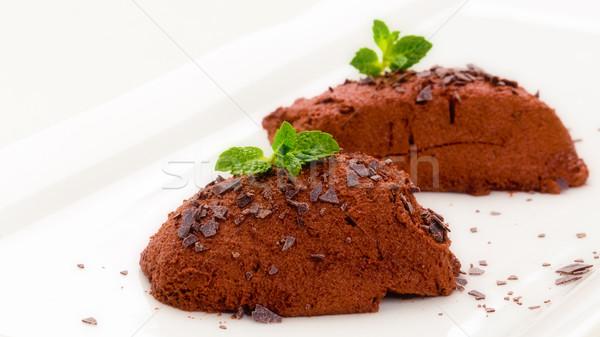 Mousse chocolat Stock photo © Moradoheath