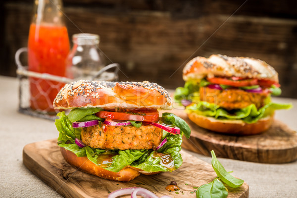 Healthy Vegan Burger Stock photo © Moradoheath