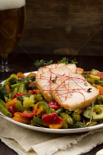 マリネ 豚肉 野菜 はちみつ 新鮮な ハーブ ストックフォト © Moradoheath