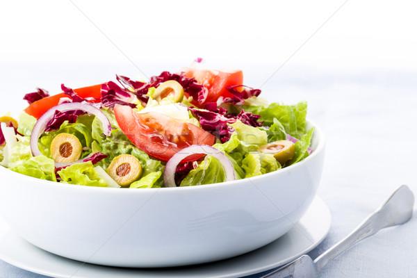 新鮮な サラダ トマト オリーブ 玉葱 レストラン ストックフォト © Moradoheath