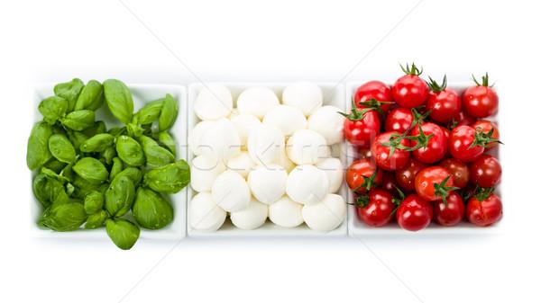 Tomate mozzarella albahaca frescos tomates cena Foto stock © Moradoheath