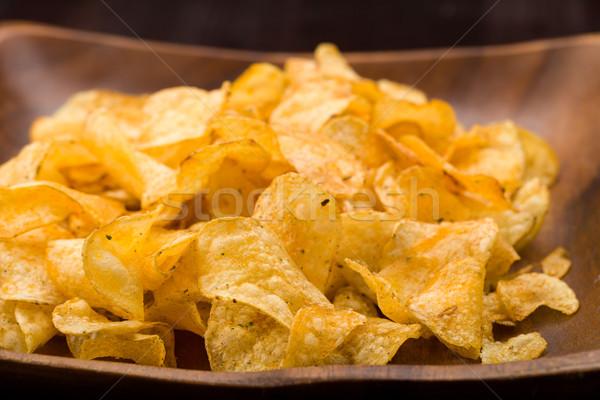 Potato chips with herbs Stock photo © Moradoheath