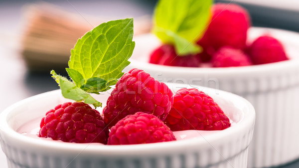 Himbeer Joghurt Stock photo © Moradoheath
