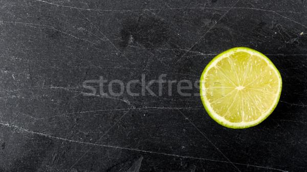 石灰 カット 暗い フルーツ 背景 ストックフォト © Moradoheath