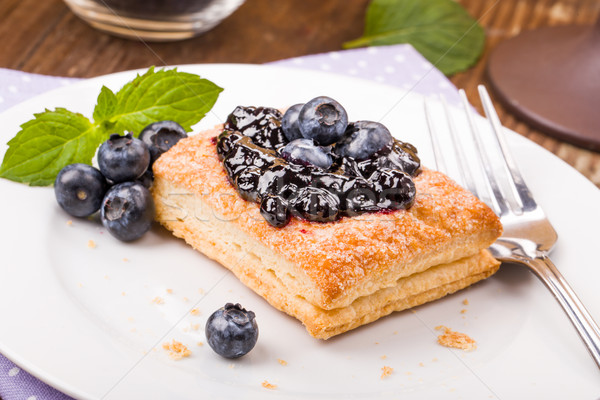 Puff pastry with blueberries Stock photo © Moradoheath