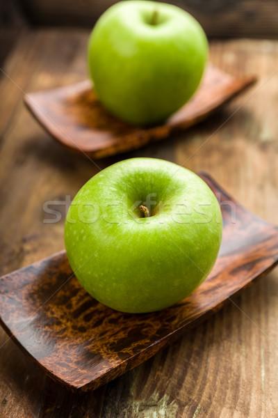 Nagyi alma gyümölcs háttér fehér friss Stock fotó © Moradoheath