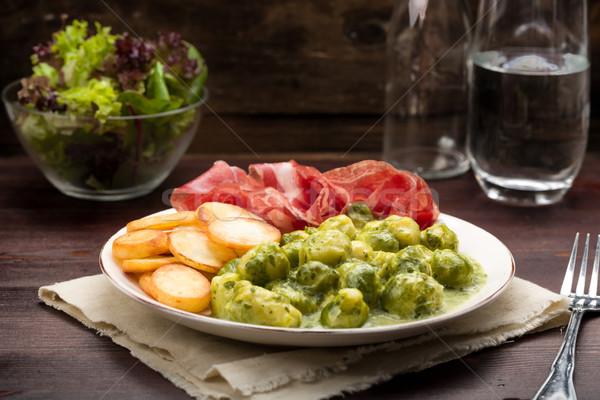 ブリュッセル 肉 野菜 調理 ストックフォト © Moradoheath